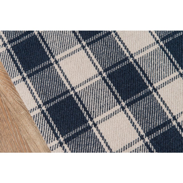 Modern Erin Gates by Momeni Marlborough Charles Navy Hand Woven Wool Area Rug - 8′ × 10′ For Sale - Image 3 of 7