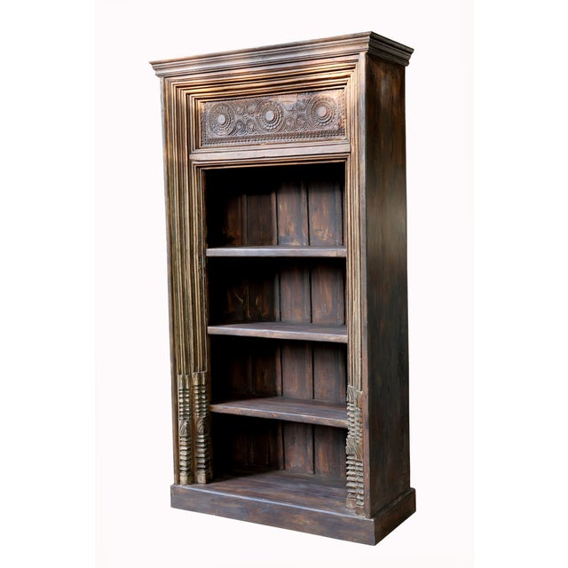 Architectural Four Tiered Carved Bookshelf - Image 2 of 2