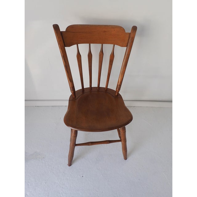 Country Ethan Allen Country Thumb-Back Dining Chair For Sale - Image 3 of 7