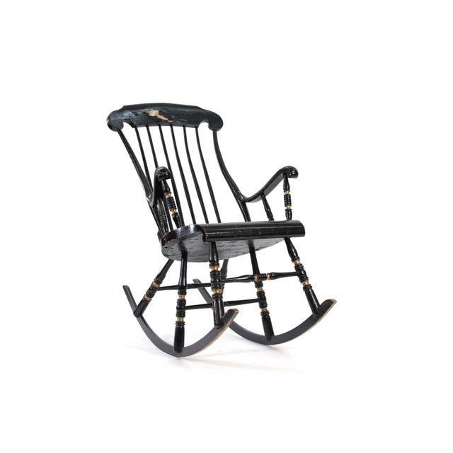 """This is a rare and original 19th century """"Gungstol"""" Swedish rocking chair. I found this in central Sweden and recently..."""