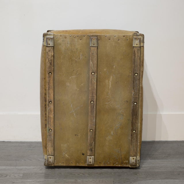 Large Vulcanized Canvas Factory Bin C.1948 For Sale In San Francisco - Image 6 of 8