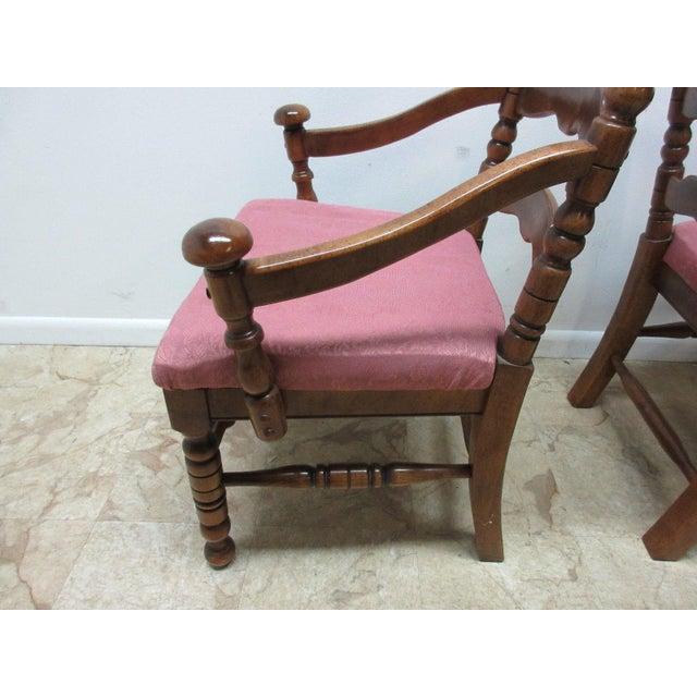 Link Taylor Country Pine Ladder Back Dining Chairs - A Pair For Sale In Philadelphia - Image 6 of 10