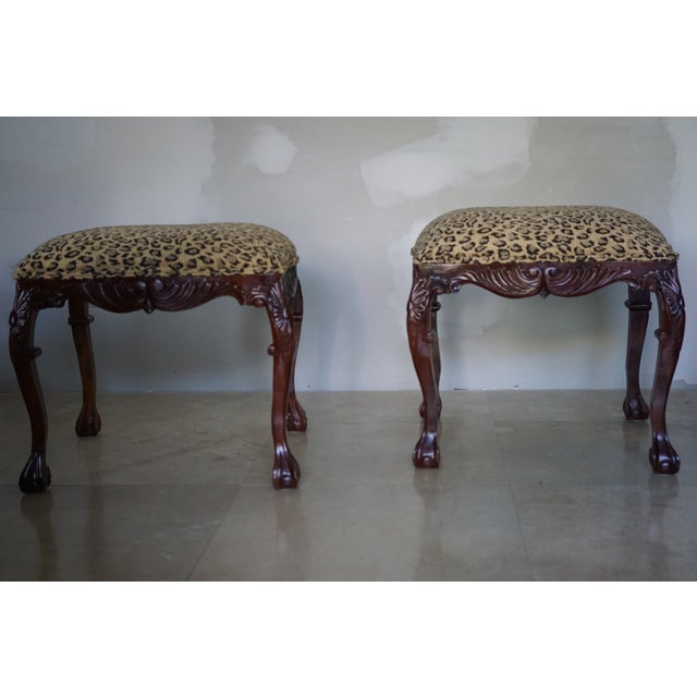 Mid-Century Leopard Stools - a Pair For Sale In Miami - Image 6 of 6
