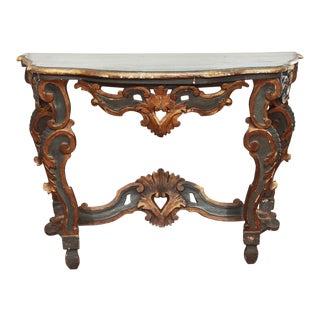 Italian Rococo Console Table For Sale