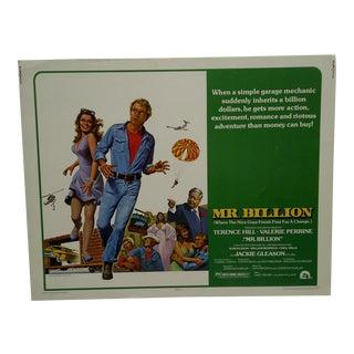 """Vintage Movie Poster """"Mr. Billion"""" For Sale"""