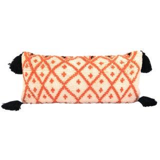Vintage Morrocan Saffron & Pink Bolster Pillow For Sale