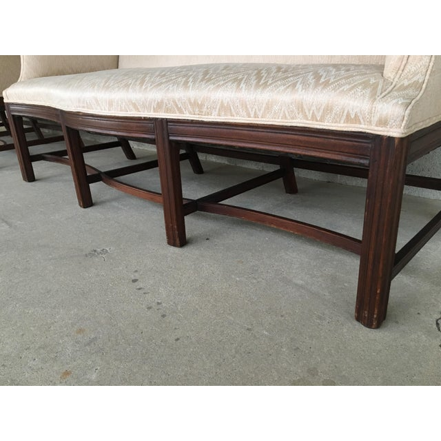 Mahogany 19th Century Antique Chippendale Style 8 Leg Camel Back Serpentine Front Settees - A Pair For Sale - Image 7 of 13