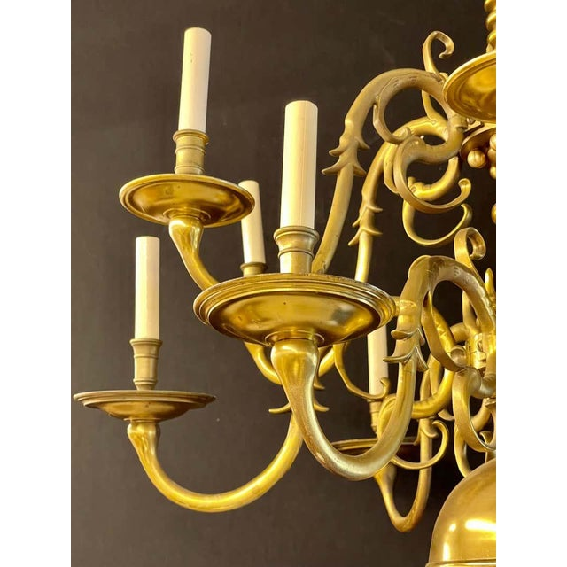 Early 20th Century 19th Century English Georgian Style Bronze Chandelier For Sale - Image 5 of 12