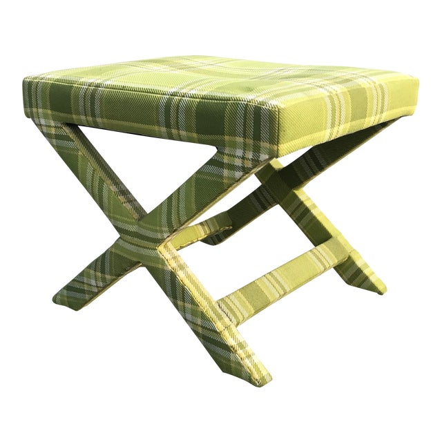 Mid Century Billy Baldwin Upholstered Parsons X Bench For Sale