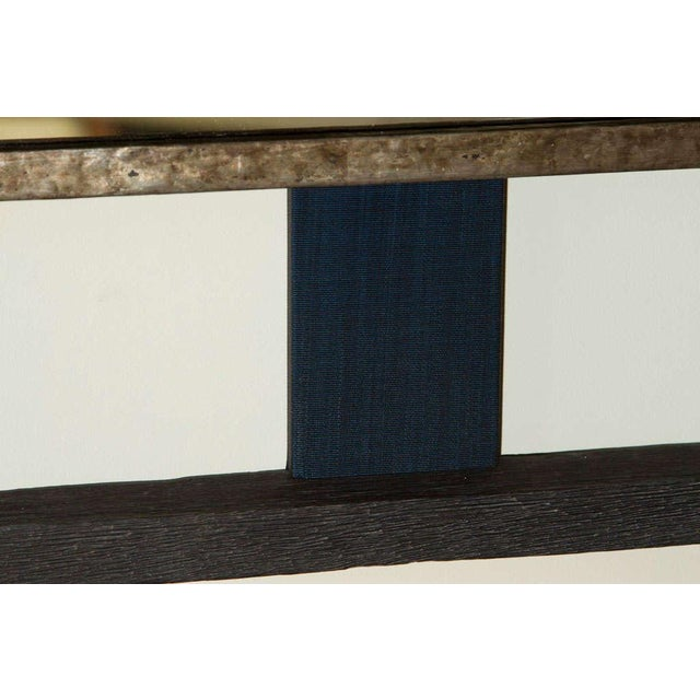 Wood Paul Marra Negative Space Distressed Finish & Horsehair Mirror For Sale - Image 7 of 8