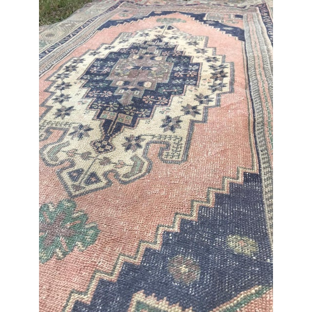 Muted Pastel Turkish Oushak Rug For Sale In Houston - Image 6 of 8