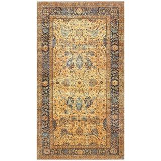 Oversized Antique Persian Kerman Rug - 12′8″ × 23′ For Sale