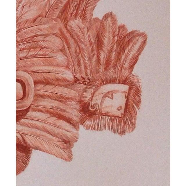 "Illustration of Mayan Headdress, ""Penacho Ceremonial De Sacerdote Maya"" For Sale - Image 4 of 6"