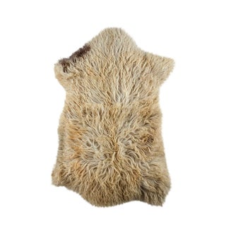 "Contemporary Natural Sheepskin Pelt - 2'0""x3'0"""