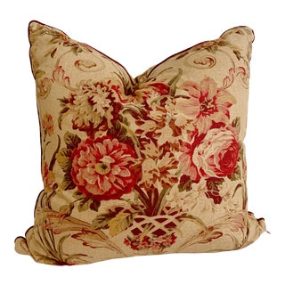 Vintage Ralph Lauren Guinevere Aragon Floral Pillow For Sale