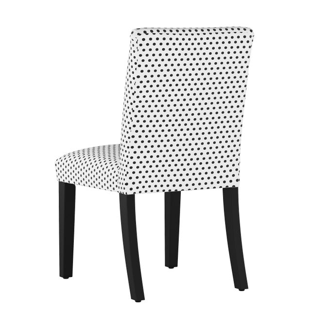 Contemporary Dining Chair in Polka Dot White Oga For Sale - Image 3 of 7