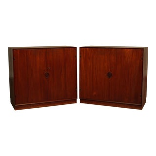 Illums Bolighus Peter Hvidt & Orla Mølgaard Nielsen Danish Teak Cabinets - a Pair For Sale