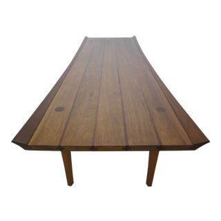 1960s Mid Century Modern Heritage Furniture Walnut Coffee Table For Sale