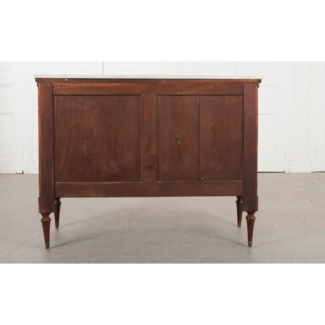 French 19th Century Louis XVI-Style Mahogany Commode For Sale - Image 10 of 11
