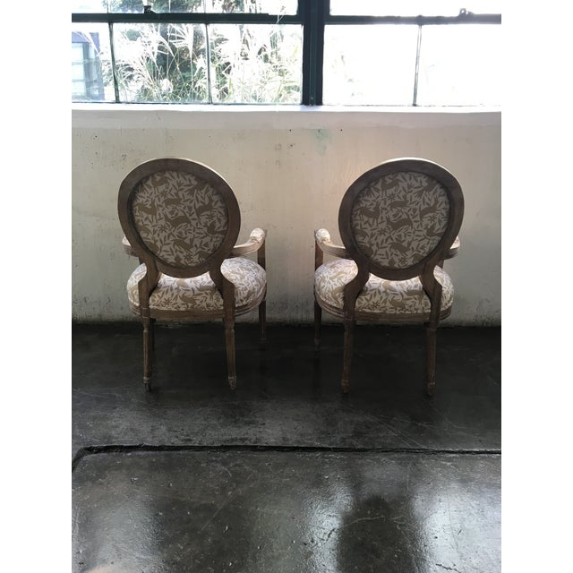 2010s Whimsical Otomi Print Chairs - a Pair For Sale - Image 5 of 7