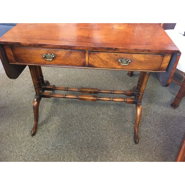 English Antique Mahogany Regency Sofa Table For Sale - Image 4 of 5