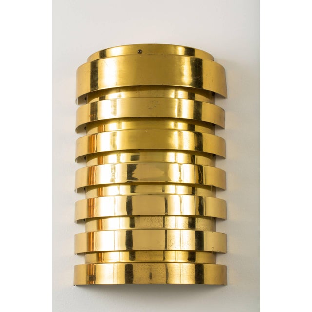 Modern Pair of Hans Agne Jakobsson Brass Sconces For Sale - Image 3 of 6