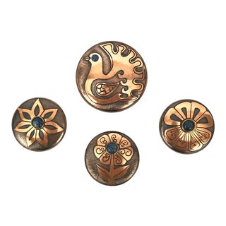 Copper Boxes From Chile, Set of 4 For Sale
