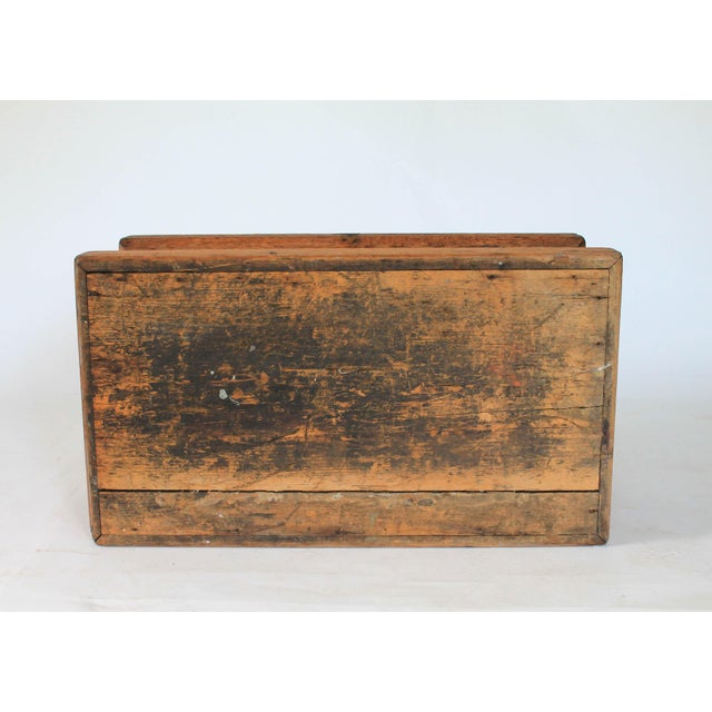 Rustic Wooden Storage Trunk For Sale - Image 11 of 11
