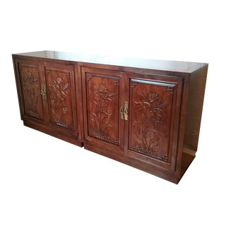 Late 20th Century Henredon Oversize Cabinets-a Pair For Sale