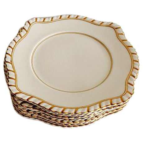 English Dessert Plates - Set of 7 - Image 1 of 5