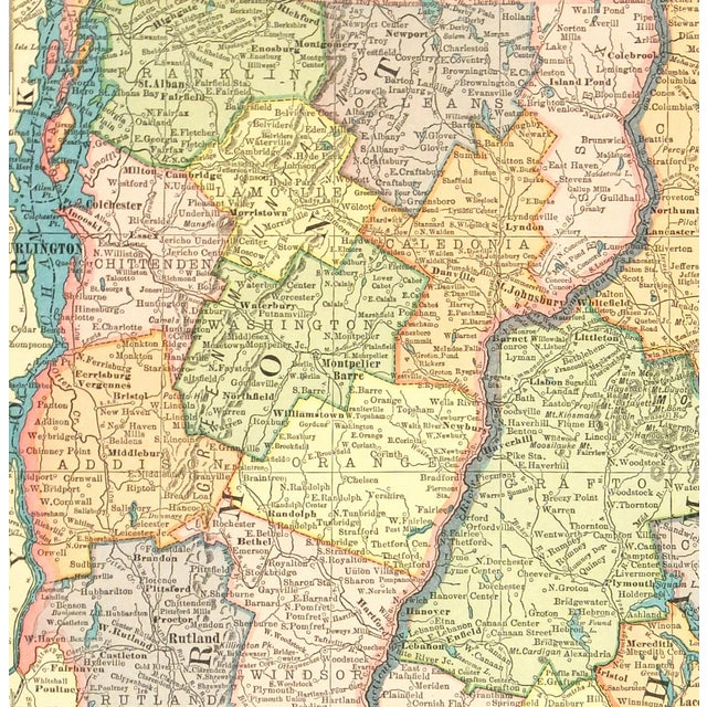 Vintage Vermont and New Hampshire 1926 Map - Image 2 of 4