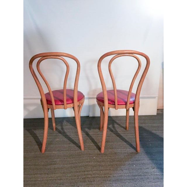 Thonet Style Bentwood Upholstered Chairs - a Pair - Image 5 of 9