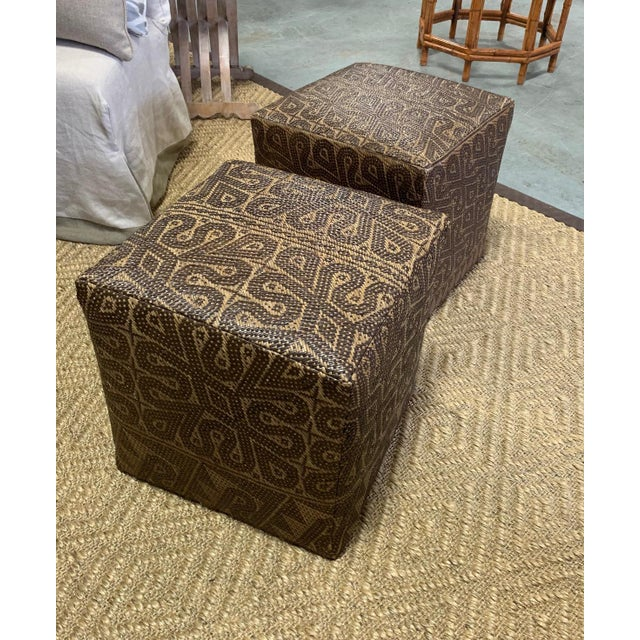 Islamic Borneo Mat Ottomans- A Pair For Sale - Image 3 of 7