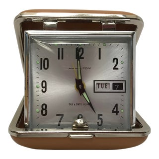 Vintage Hamilton Bedside Clock For Sale