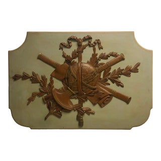 1950s Carved Wood Plaque Attributed to Otto Zenke For Sale
