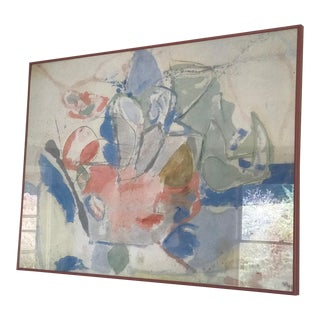 Mid-Century Abstract Pastel Print