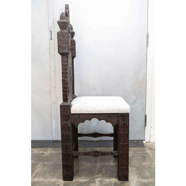19th Century Turkish Carved Wood Chair - Image 4 of 7