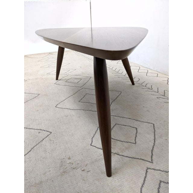 Brown 1960s Mid Century Walnut Cocktail Table For Sale - Image 8 of 9