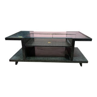 1960s Black Cerused Oak Two Tier Coffee Table For Sale