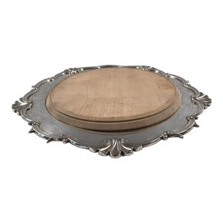 Early 20th Century English Silver Plate Cheese or Bread Board For Sale