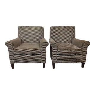 Pair of 1960's American Club Chairs For Sale