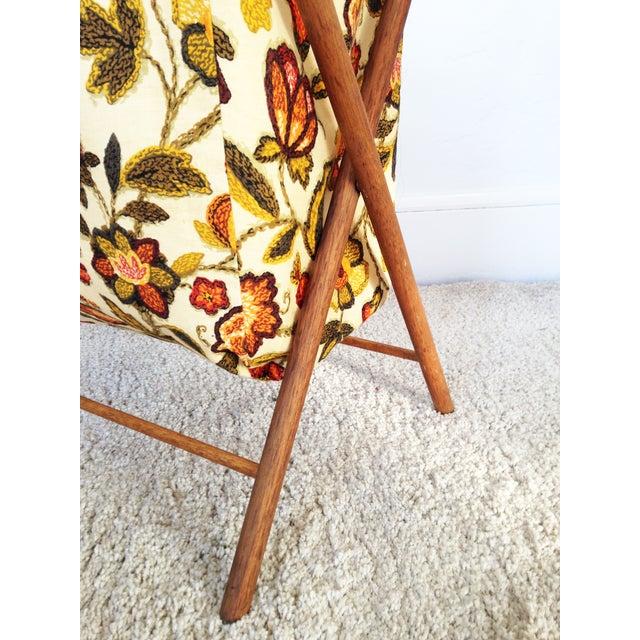 Vintage Folding Sewing Basket / Hamper - Image 5 of 7