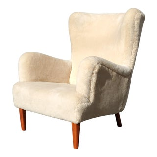 Attributed to Flemming Lassen by a.j. Iversen, Danish Cabinet Maker Wingback Chair For Sale
