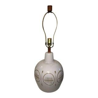 Mid Century Modern Ceramic Lamp Signed Martz For Sale