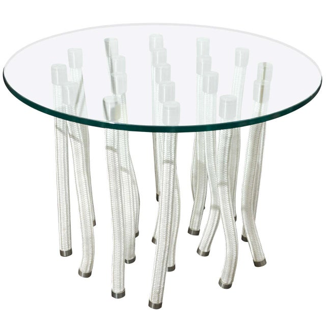 Round Glass Coffee Table by F. Novembre For Sale In New York - Image 6 of 6