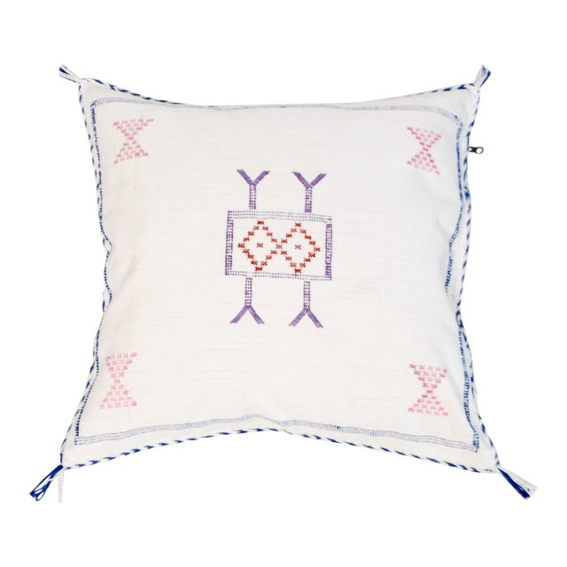 Cream Moroccan Berber Sabra Throw Pillow For Sale