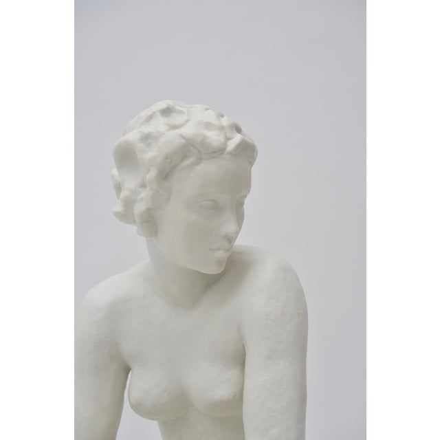 "White Rosenthal Sculpture ""Die Hockende"" For Sale - Image 8 of 12"