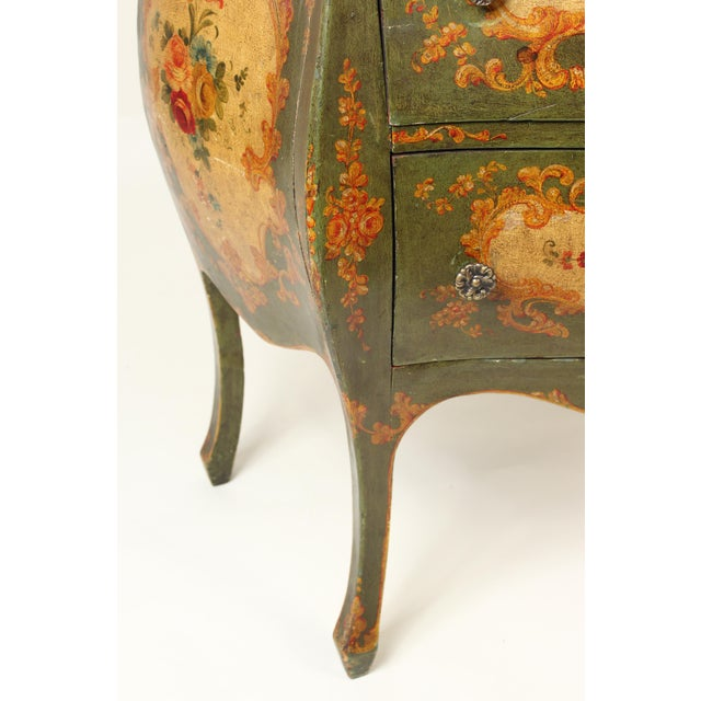 Italian Louis XV Style Painted Commode For Sale In Los Angeles - Image 6 of 12