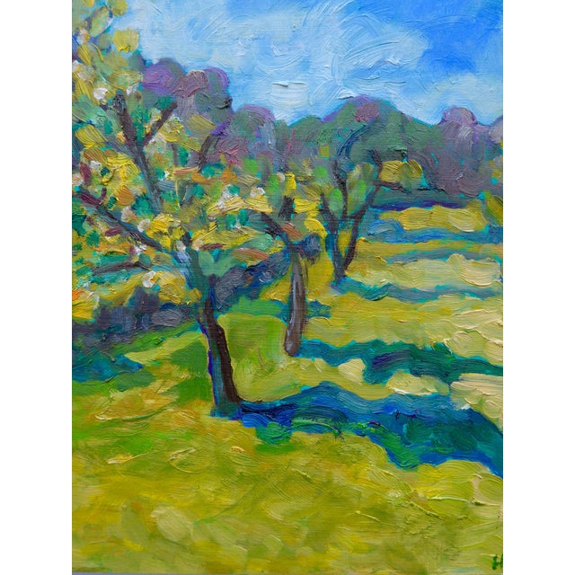 French Orchard in the Spring Plein Air Painting - Image 2 of 7