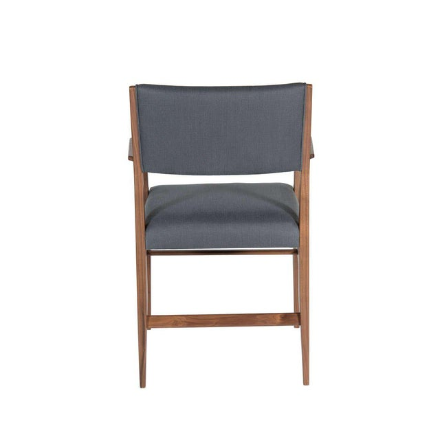 Customizable Maze Walnut Arm Dining Chair For Sale - Image 4 of 5